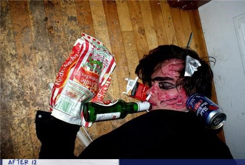 beer food passed out - 4439626240