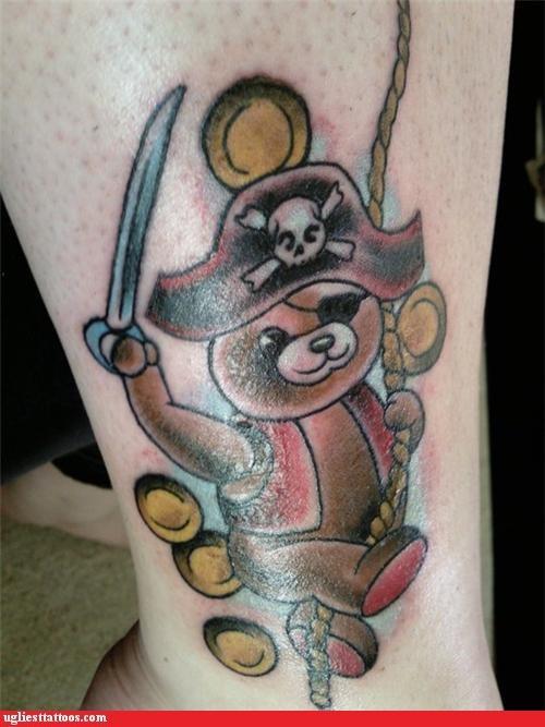 bears tattoos pirates funny - 4439768832