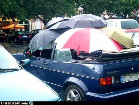 cars,convertible,overkill,umbrella,waterproof