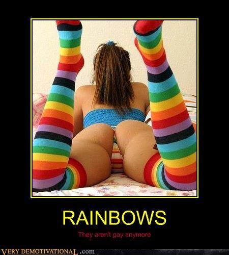booty colors rainbows socks - 4440169216