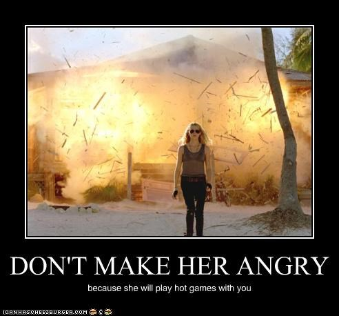 DON'T MAKE HER ANGRY because she will play hot games with you