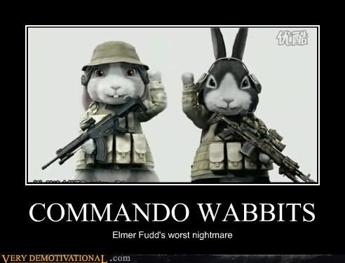 commando elmer fudd rabbits wabbit
