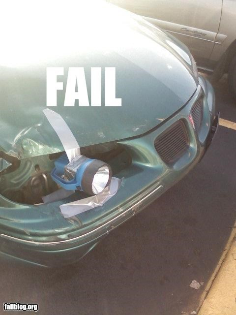 Headlight Fail Took picture at Purdue University's Chauncey Hill Parking lot a couple years ago