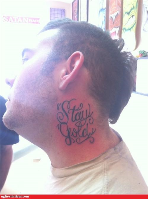 neck tats,tattoos,funny