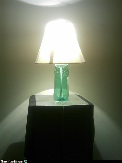 DIY lamp lighting soda bottle - 4440838144