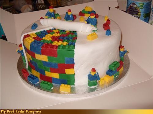 bricks cake fondant lego - 4440918528