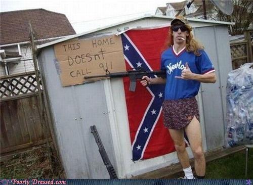 911 confederate flag guns redneck weird wig - 4440964608