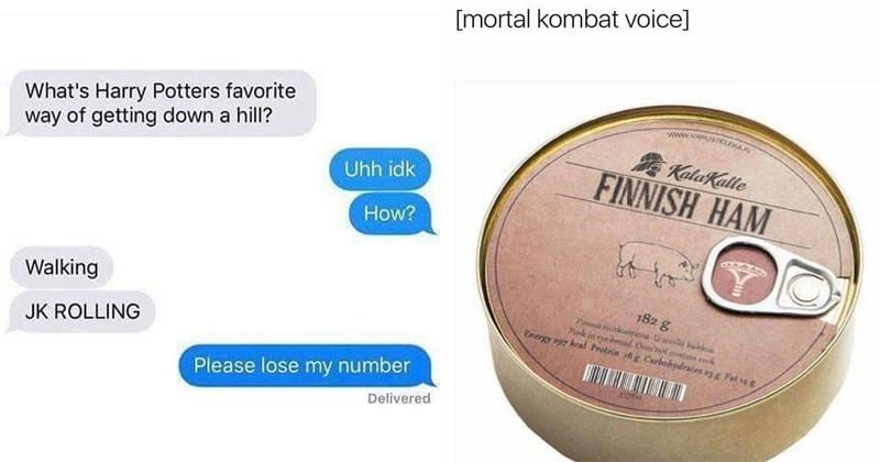 Funny pun memes.