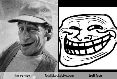 actor expression jim varney Memes troll troll face - 4441340672