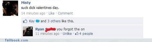 lol,Valentines day,win,witty reply