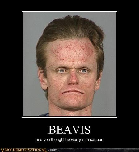 Beavis cartoons fivehead unfortunate looking - 4441445120