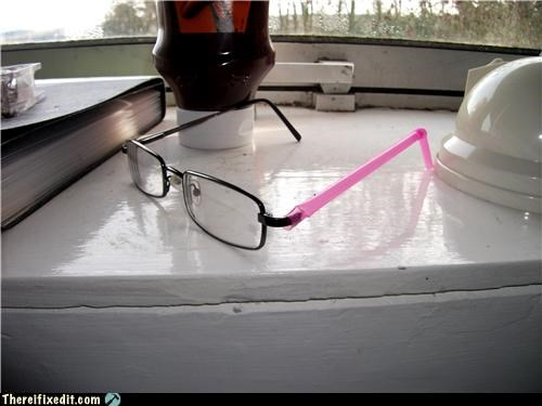 bad puns glasses holding it up straw - 4441527296
