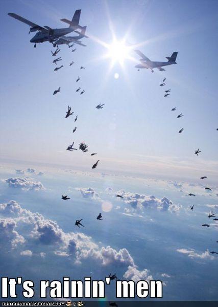 falling men paratroopers planes - 4442068224