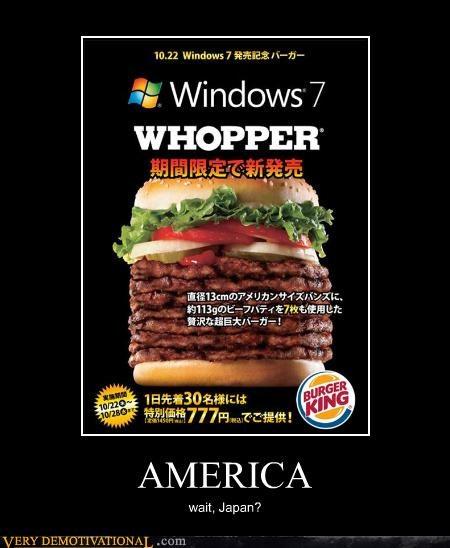 america,burger,huge,Japan