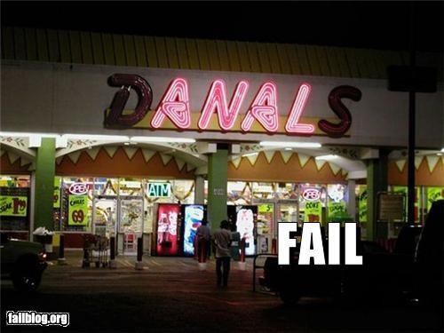 butts failboat innuendo lights missing letters signs stores yikes - 4442354176