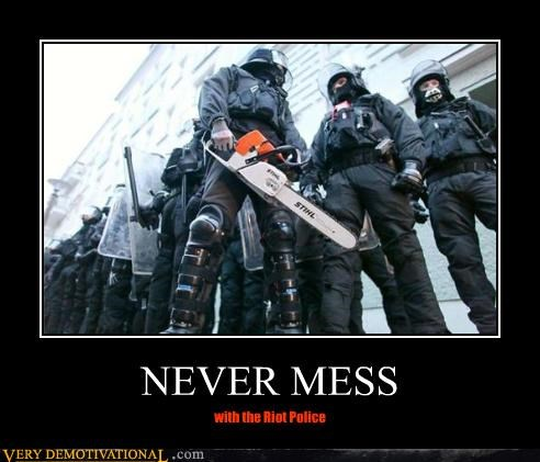 NEVER MESS with the Riot Police
