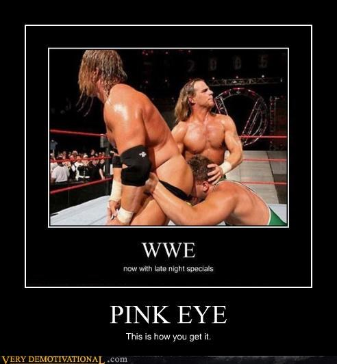 big sweaty men booty eww pink eye wrestling - 4442610176