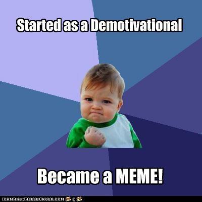 demotivational meme success kid - 4442925056