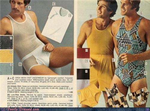 70s mustache see through underwear unitard - 4443189760