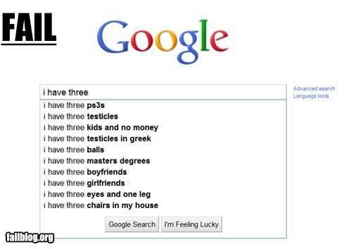 Autocomplete Me failboat google multiples really search three why