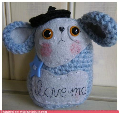 Amigurumi love mouse Plush Sad - 4443806720