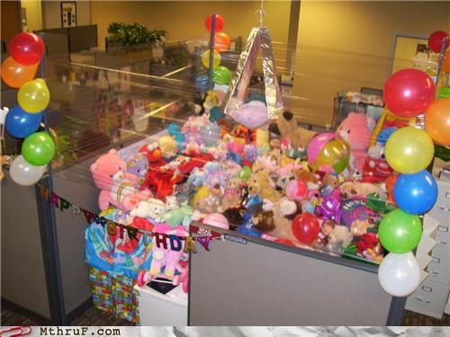 bears,claw,cubicle,prank,stuffed animal