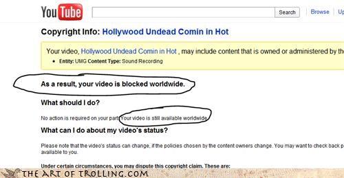 blocked inconsistency here Video worldwide youtube - 4444474368
