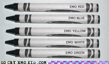 colors,crayola,crayons,emo,rainbow