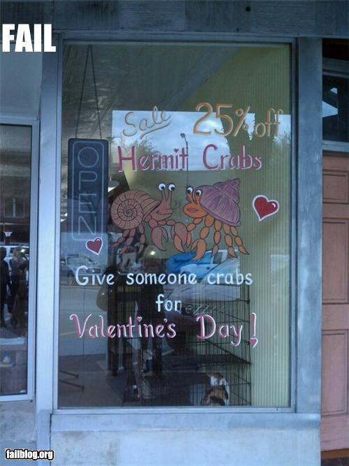 crabs,failboat,gifts,holiday,STDs,suggestions,Valentines day