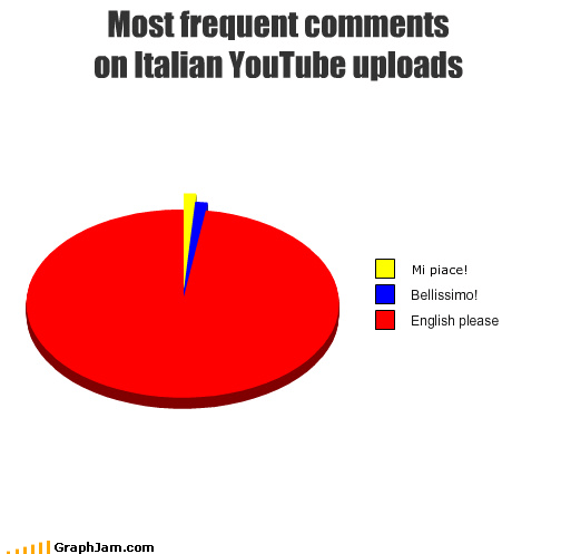 comments,english,italian,no comprende,Pie Chart,youtube