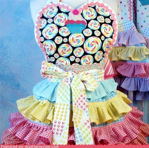 apron candy colorful cooking kitchen pastels - 4445120256