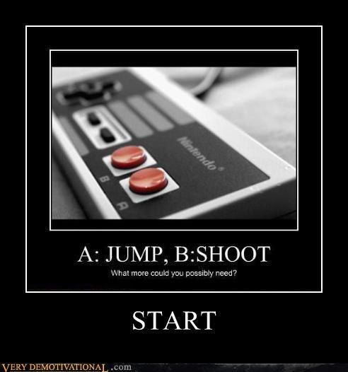 start controller buttons
