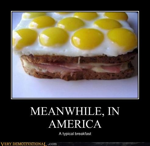 MEANWHILE, IN AMERICA A typical breakfast