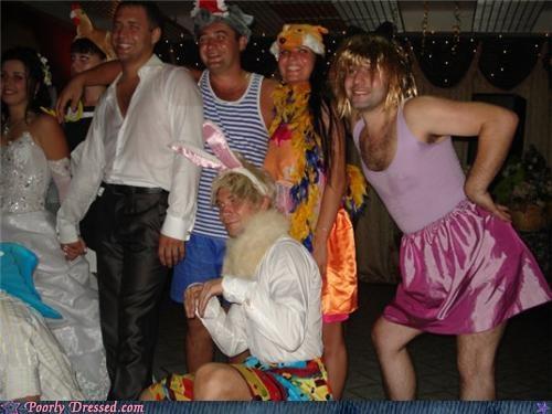 bunny costume cross dresser pink unitard wig - 4445989120