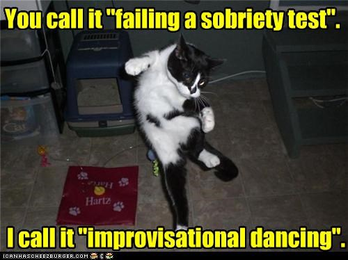 "semantics You call it ""failing a sobriety test"". I call it ""improvisational dancing""."