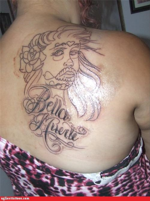 wtf,back piece,tattoos,funny