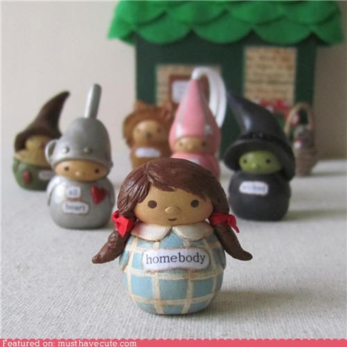 characters,figurines,little,wizard of oz