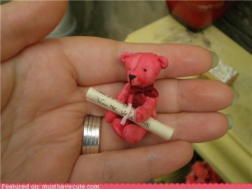 hand made mini miniature teddy teddy bear tiny - 4447087360
