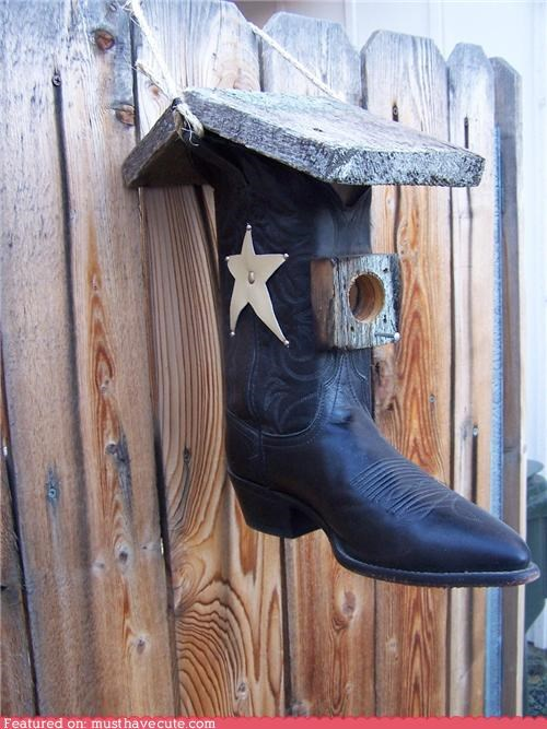 bird house boot cowboy boot roof - 4447127040