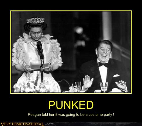 costume party,dinner,queen,reagan