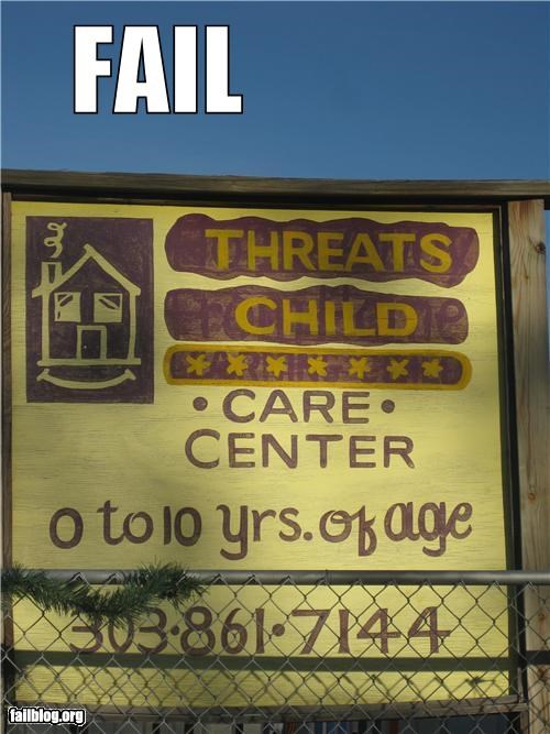day care FAIL failboat name restaurants signs