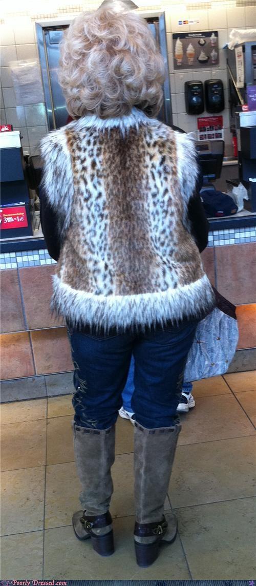 cat cougar grandma leopard vest - 4447387648