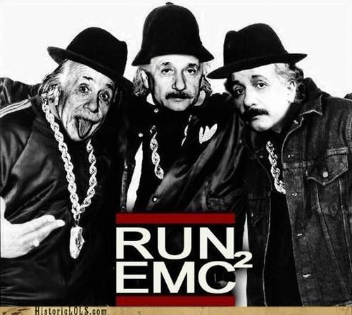 einstein,fake,funny,Music,rap,Run DMC,science,shoop