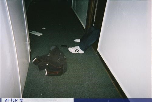 clothes door drunk hallway passed out after 12