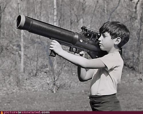 awesome bazooka guns kids vintage wtf