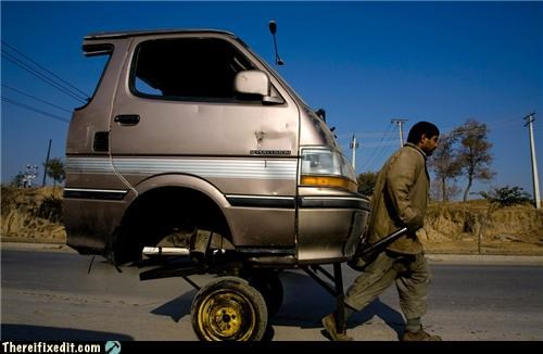 in soviet russia towing trailers truck - 4448228352