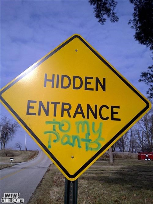 graffiti hacked road signs sexual