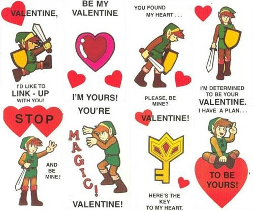Fan Art link nerd love valentine card valentines Valentines day - 4448446464