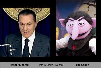 Count von Count,counting,egypt,evil,Hosni Mubarak,muppets,The Count,vampire
