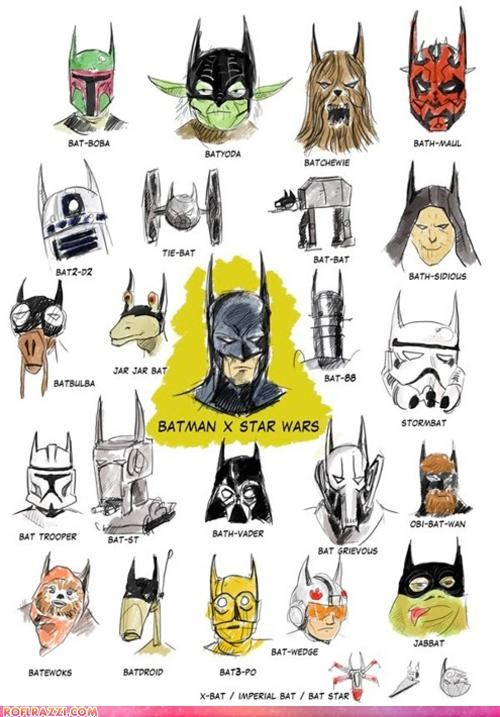 art batman funny Hall of Fame illustration sci fi star wars